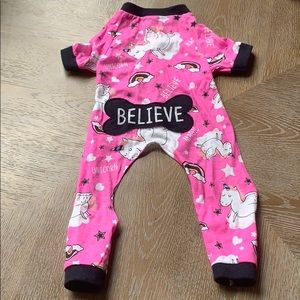 "Unicorn ""Believe"" Medium Dog Outfit in Pink"